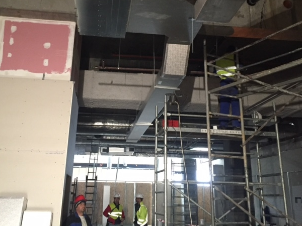 Installation of air conditioning and ventilation.